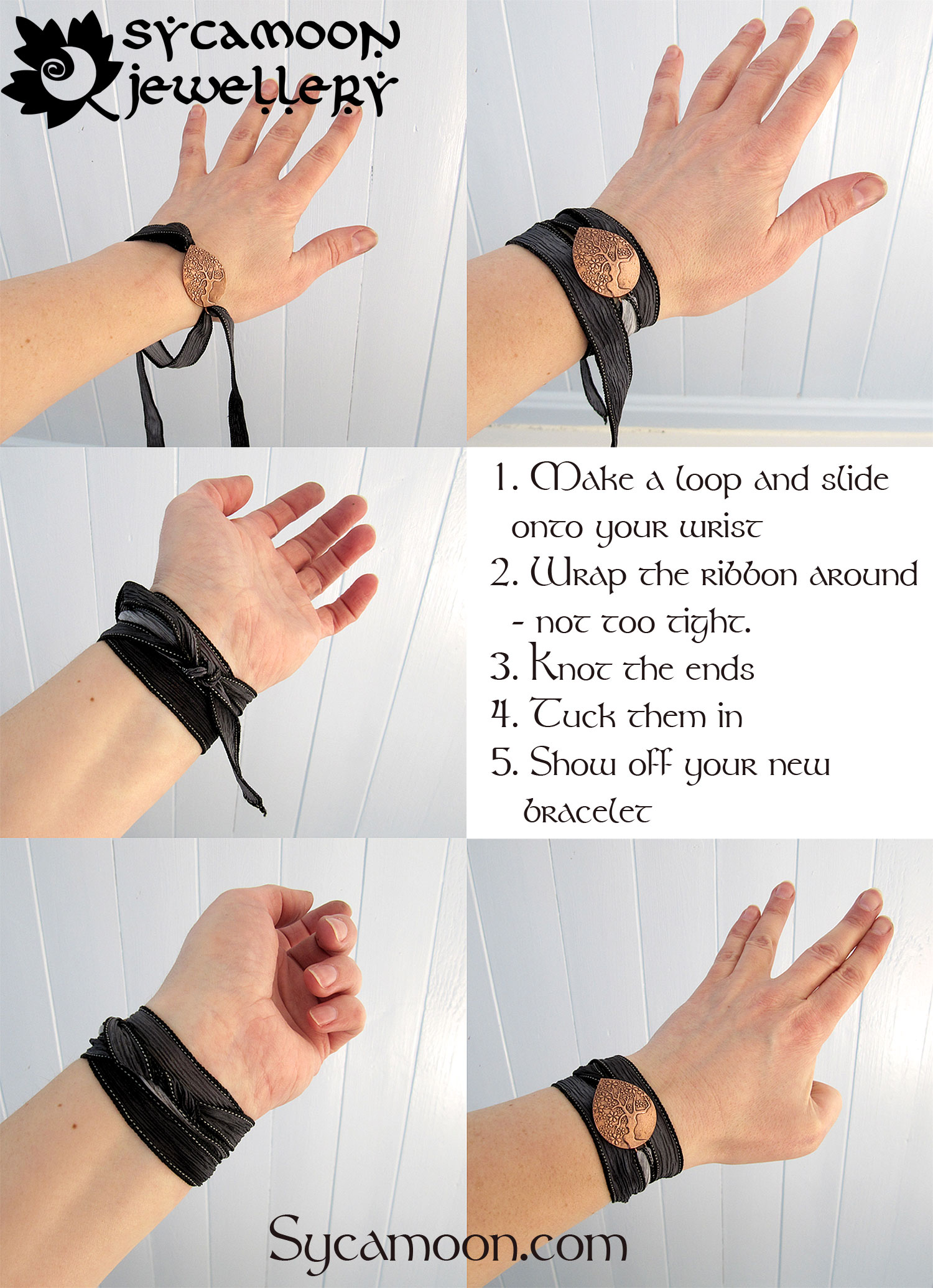 how to wrap the bracelet